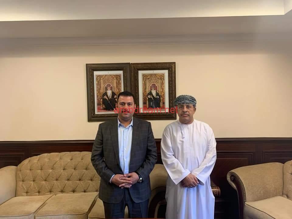 الوزير المفوض لسلطنة عمان بالقاهرة يستقبل رئيس جمعية رجال الأعمال المصريين العمانيين.