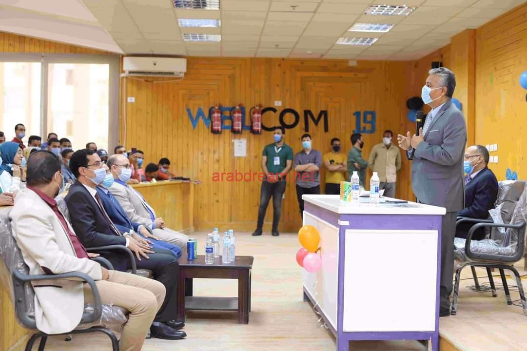الغرباوى يشهد حفل استقبال الطلاب الجدد بكلية الطب.
