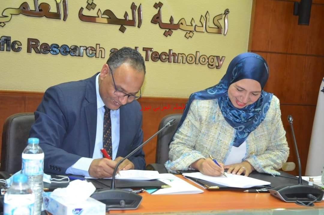 تجديد الثقة والتعاون بين أكاديمية البحث العلمي ونهضة مصر.