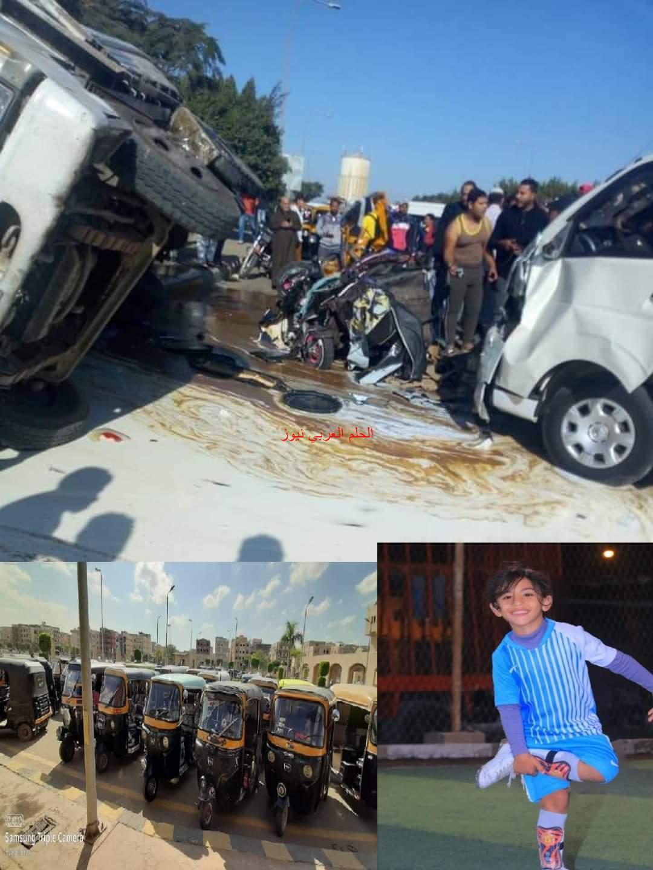 جهاز مدينة بدر يشن حملة للقضاء على التوك توك بعد حادث أمس الذي تسبب في وفاة طفل.