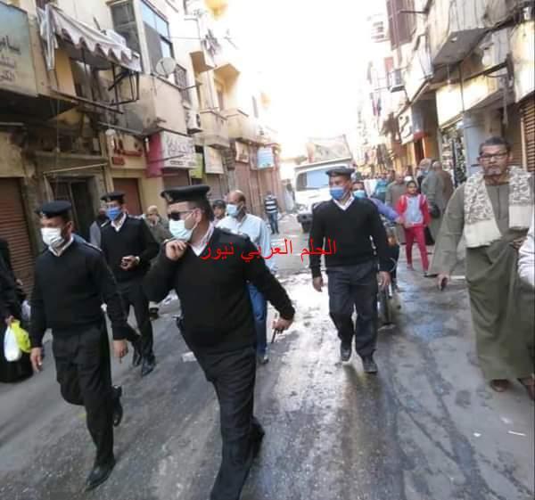 """شرطة مرافق الأقصر"""" تحرير 169 محضرا خلال حملة مكبرة بشوارع المدينة."""