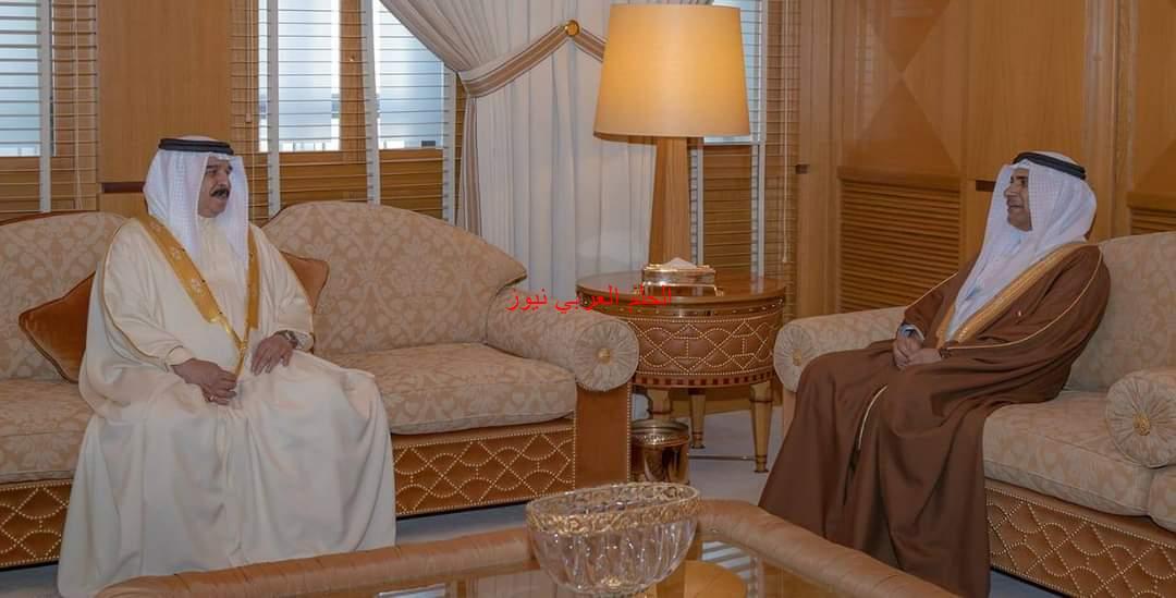 ملك مملكة البحرين يستقبل رئيس البرلمان العربي.