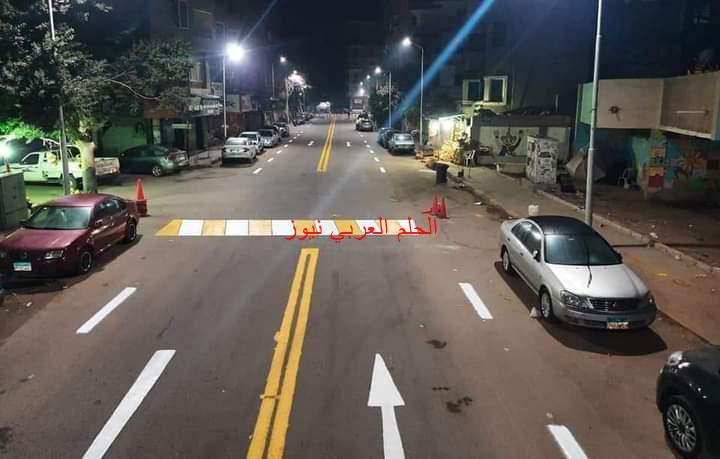 تخطيط بعض الشوارع الرئيسية والفرعية بحي العمرانية بالجيزة