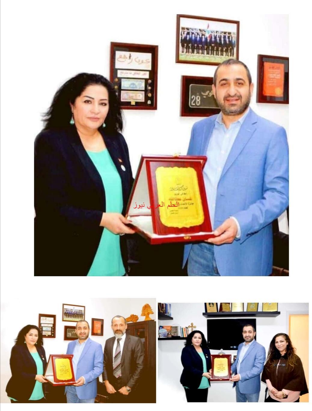 منح  معالي  غسان عطالله جائزة الإنماء والأعمال لعام 2020- لبنان.