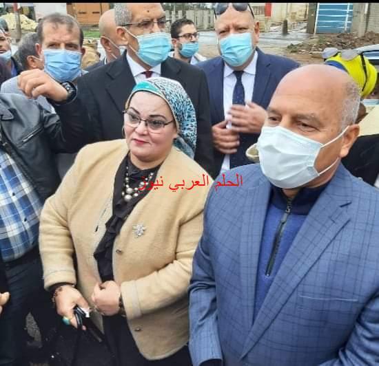 محافظ كفر الشيخ ووزير النقل يتفقدان طريق كفر الشيخ دسوق المزدوج