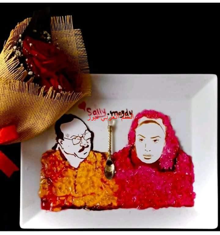 سالي مجدي تبدع في نوع جديد من الرسم