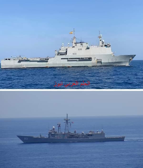القوات البحرية المصرية والأسبانية تنفذان تدريبًا بحريًا عابرًا بالبحر الأحمر …