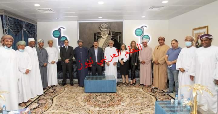 رئيس جمعية الصحفيين العمانية يستقبل رئيس جمعية رجال الأعمال المصريين العمانيين