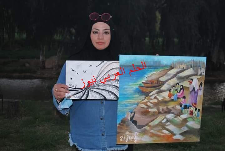 فنانةتشكيلية تتألق على أرض الكويت
