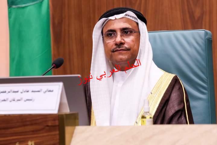 رئيس البرلمان العربي يهنئ مصر ويشيد بنجاح الجهود المصرية في إنهاء أزمة السفينة الجانحة