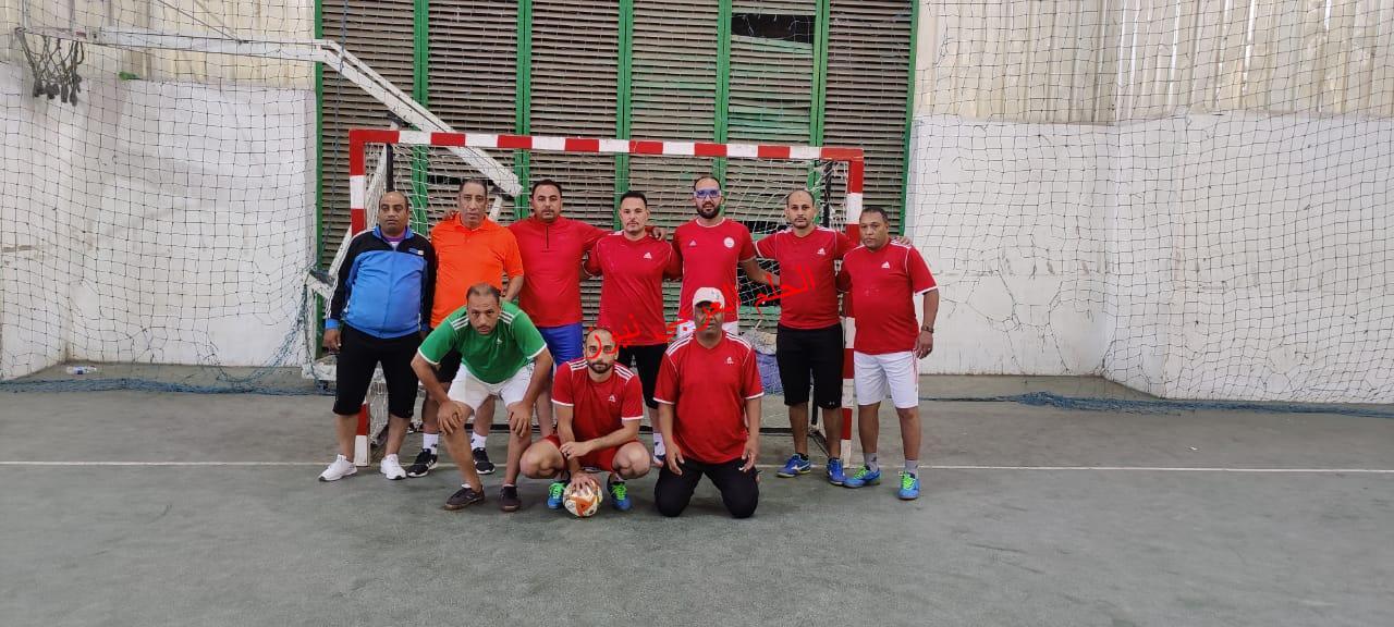 في الكورة الخماسية فاز فريق التموين علي فريق سكر قوص ٨- صفر  بقلم ليلي حسين