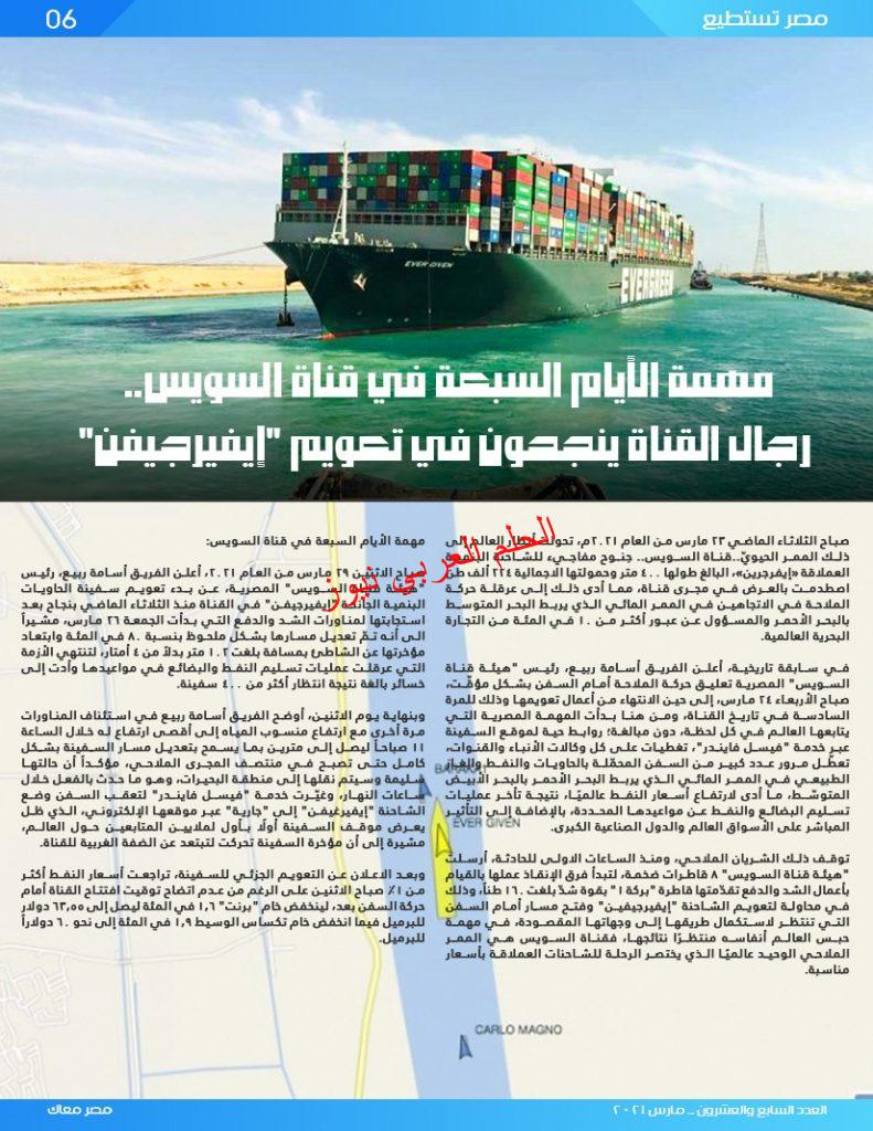 """الهجرة"""" تصدر العدد السابع والعشرين من مجلة """"مصر معاك"""" مارس 2021 بقلم ليلي حسين"""