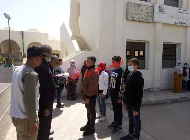 مراسم تسليم العلم لقائد الفوج الثاني لمعسكر القيادة الوطنية بالفيوم