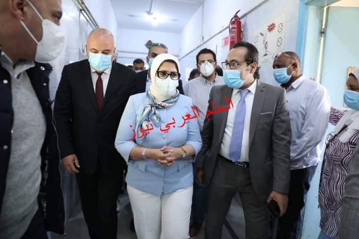 وزيرة الصحة تتفقد مستشفى صدر قناخلال زيارتها الميدانية لمحافظة قنا.