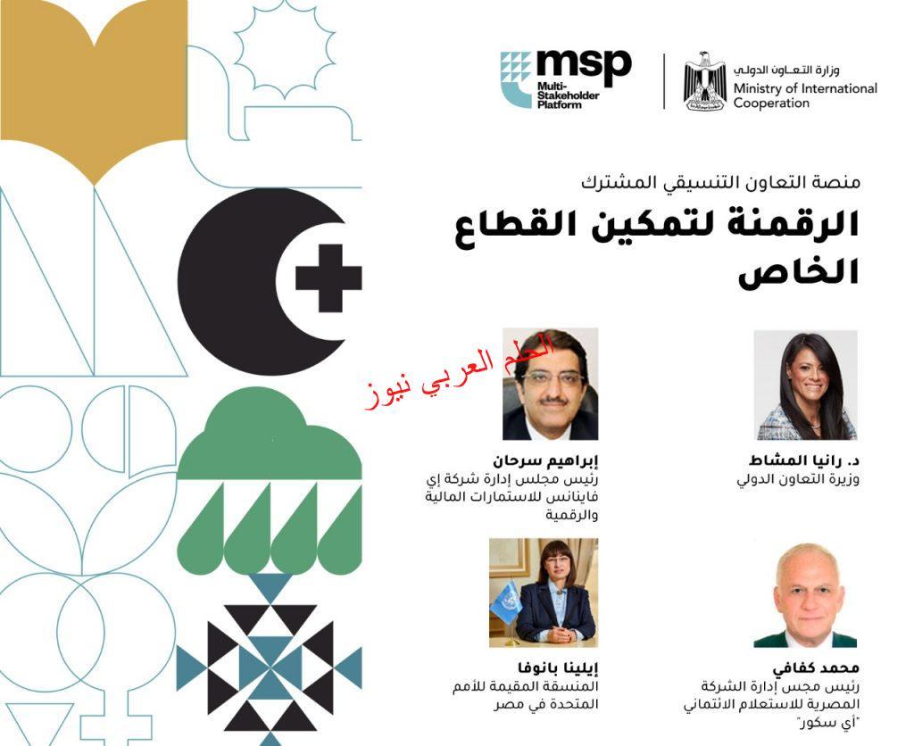 """التعاون الدولي """"الرقمية لتمكين القطاع الخاص"""" بقلم ليلي حسين"""