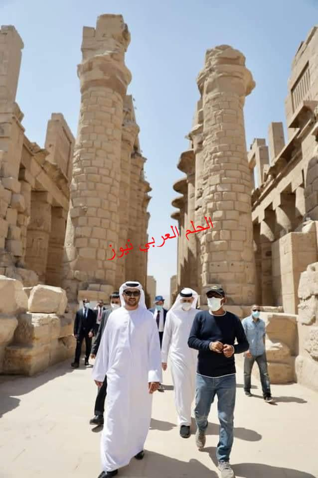 د. حمد الشامسى سفير الإمارات يزور معالم الأقصر الأثرية والسياحية