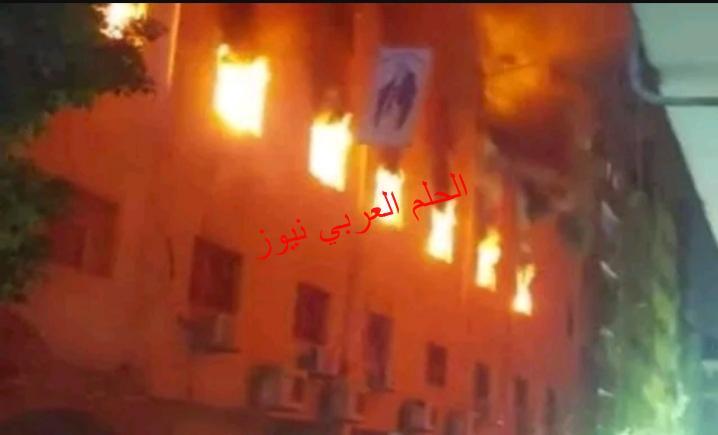 بالعمرانية حريق هائل في كنيسة مارمينا بقلم ليلي حسين