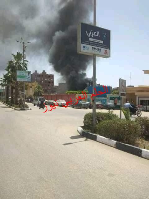 حريق يلتهم إستراحة مهندسي الانشاءات في مستشفى الأقصر الدولي.