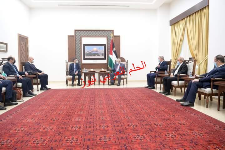 الرئيس الفلسطيني يستقبل وفد مصر الأمني