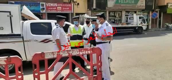"""""""مرافق الاقصر"""" تحرير 168محضر بحملة مكبرة بشوارع المدينة"""