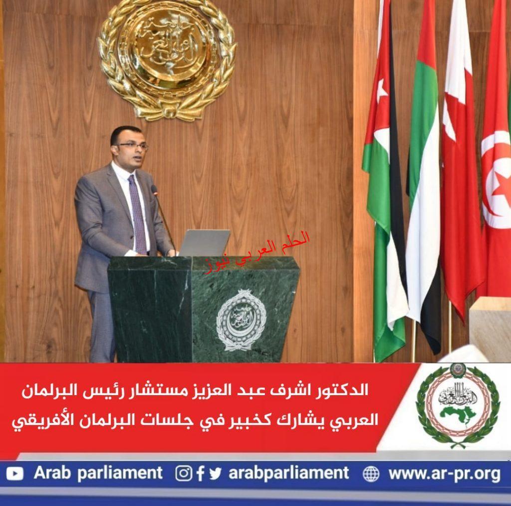 مستشار رئيس البرلمان العربي يشارك كخبير في جلسات البرلمان الأفريقي بقلم ليلي حسين