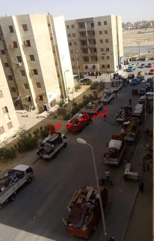 هدم 55 عشة بمنطقة التوفيقية بالمطرية وتسكين 45 أسرة بإسكان المحافظة بمدينة بدر