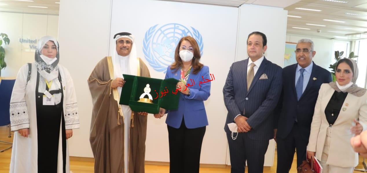 """بين البرلمان العربي """"العسومي""""والأمم المتحدة """"غادة والي"""" يوقع أول اتفاقية من نوعها  بقلم ليلي حسين"""