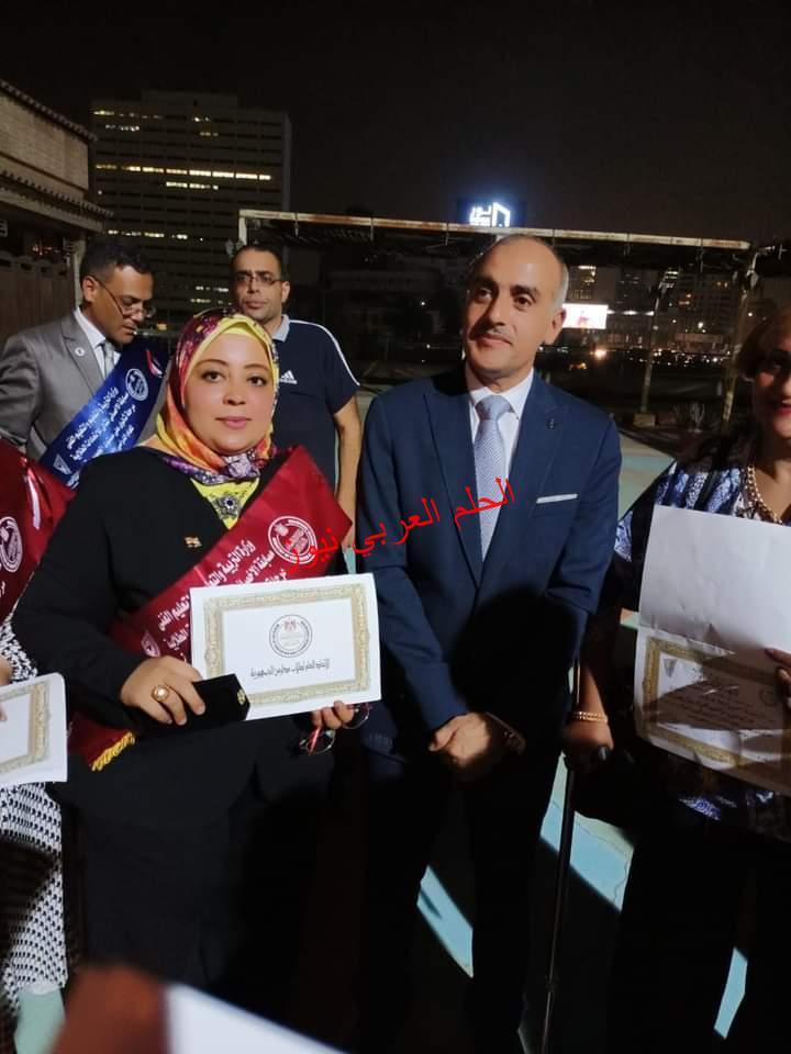 رائد عام اتحاد طلاب مصر يكرم الاخصائية المثالية علي مستوي الجمهورية