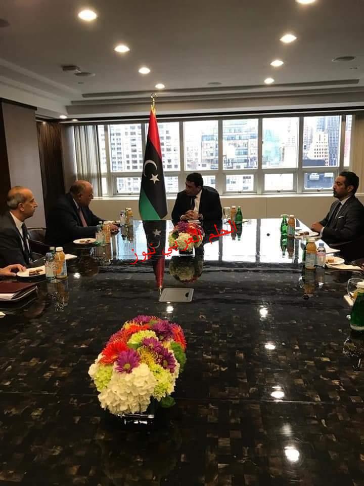في مُستهل زيارته الحالية إلى نيويورك وزير الخارجية يلتقي رئيس المجلس الرئاسي الليبي