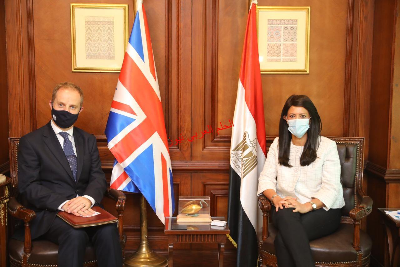 وزيرة التعاون الدولي تلتقي السفير الجديد للمملكة المتحدة بالقاهرة لبحث العلاقات الاقتصادية المشتركة بقلم ليلي حسين